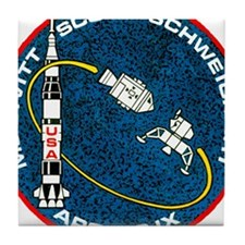Apollo 9 Mission Patch Tile Coaster