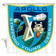 Apollo 10 Mission Patch Shower Curtain