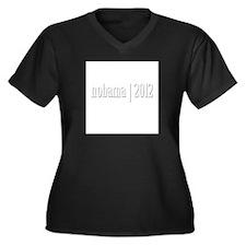 Nobama 2012 Women's Plus Size V-Neck Dark T-Shirt
