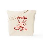 Loretta On Fire Tote Bag
