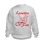 Loretta On Fire Kids Sweatshirt