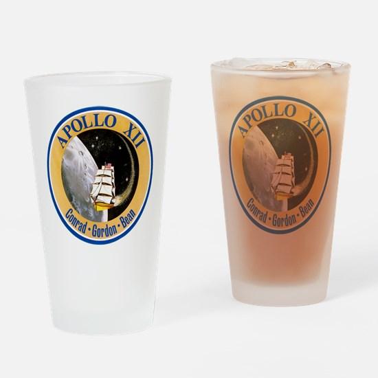 Apollo 12 Mission Patch Drinking Glass