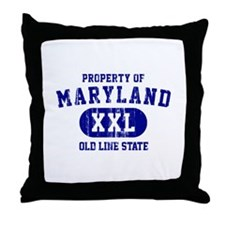 Property o Maryland, Old Line State Throw Pillow