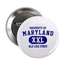 """Property o Maryland, Old Line State 2.25"""" Button"""