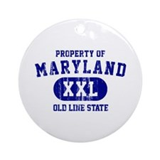 Property o Maryland, Old Line State Ornament (Roun