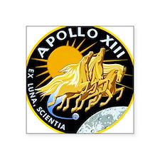 """Apollo 13 Mission Patch Square Sticker 3"""" x 3"""""""