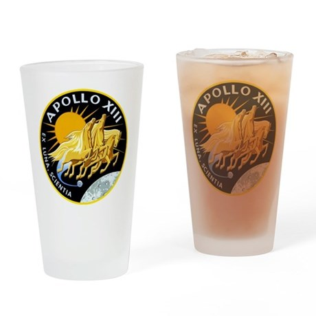 Apollo 13 Mission Patch Drinking Glass