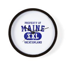 Property of Maine, Vacationland Wall Clock