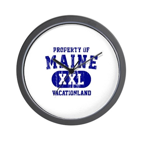 Property of Maine, Vacationland Wall Clock