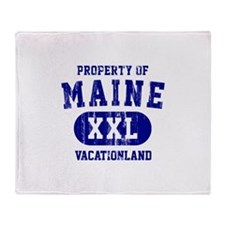 Property of Maine, Vacationland Throw Blanket