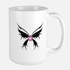 Womans Tribal Butterfly 2000x2000.png Large Mug
