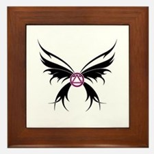 Womans Tribal Butterfly 2000x2000.png Framed Tile