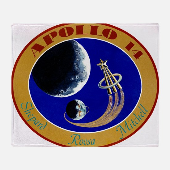 Apollo 14 Mission Patch Throw Blanket