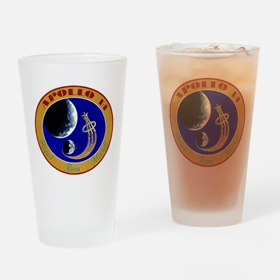Apollo 14 Mission Patch Drinking Glass