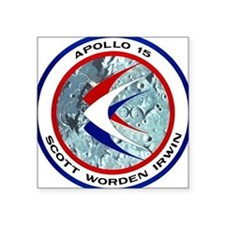 "Apollo 15 Mission Patch Square Sticker 3"" x 3"""