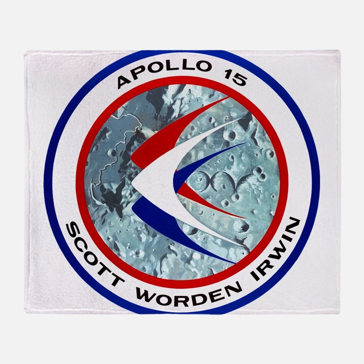 Apollo 15 Mission Patch Throw Blanket