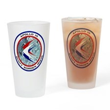 Apollo 15 Mission Patch Drinking Glass