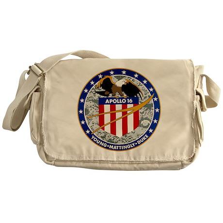 Apollo 16 Mission Patch Messenger Bag