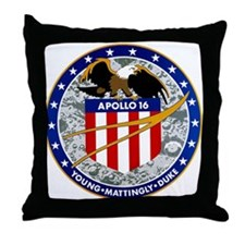 Apollo 16 Mission Patch Throw Pillow