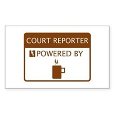 Court Reporter Powered by Coffee Decal