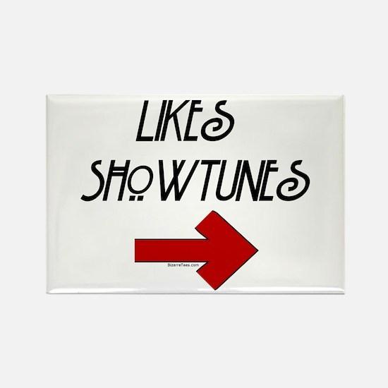 Likes Showtunes (Arrow) Rectangle Magnet