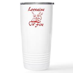 Lorraine On Fire Stainless Steel Travel Mug
