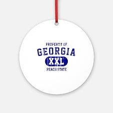 Property of Georgia, Peach State Ornament (Round)