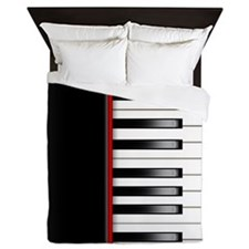 Piano Keyboard Queen Duvet