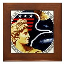 Apollo 17 Mission Patch Framed Tile