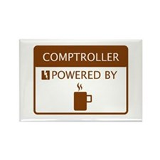 Comptroller Powered by Coffee Rectangle Magnet