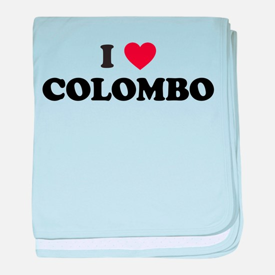 I Love Colombo baby blanket