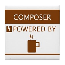 Composer Powered by Coffee Tile Coaster