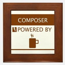 Composer Powered by Coffee Framed Tile