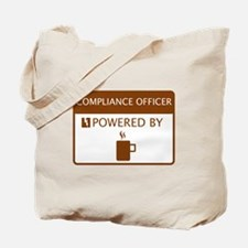 Compliance Officer Powered by Coffee Tote Bag