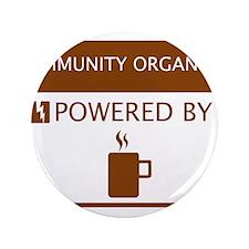 "Community Organizer Powered by Coffee 3.5"" Button"