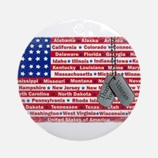 """Thank You Veteran"" Ornament (Round)"