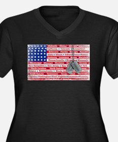 """Thank You Veteran"" Women's Plus Size V-Neck Dark"