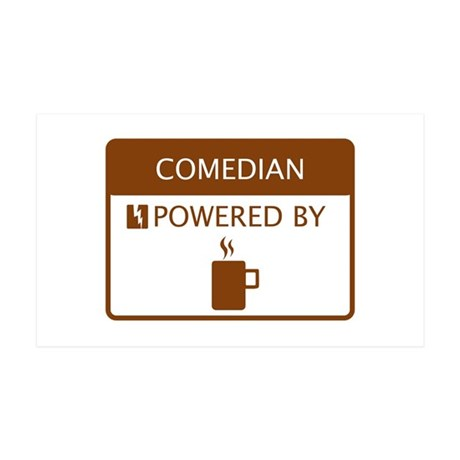 Comedian Powered by Coffee 35x21 Wall Decal