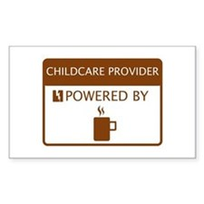 Childcare Provider Powered by Coffee Decal