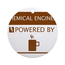 Chemical Engineer Powered by Coffee Ornament (Roun
