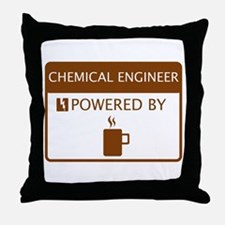 Chemical Engineer Powered by Coffee Throw Pillow