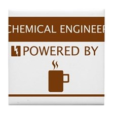 Chemical Engineer Powered by Coffee Tile Coaster