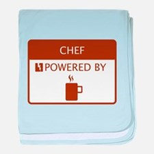 Chef Powered by Coffee baby blanket
