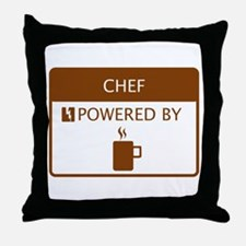 Chef Powered by Coffee Throw Pillow