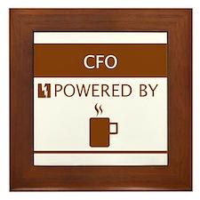 CFO Powered by Coffee Framed Tile