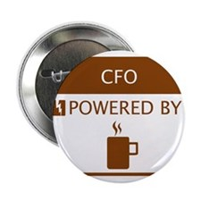 """CFO Powered by Coffee 2.25"""" Button"""