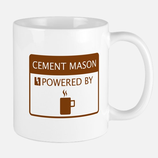 Cement Mason Powered by Coffee Mug