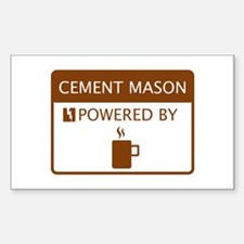 Cement Mason Powered by Coffee Decal