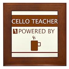 Cello Teacher Powered by Coffee Framed Tile