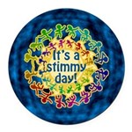 It's a Stimmy Day Round Car Magnet